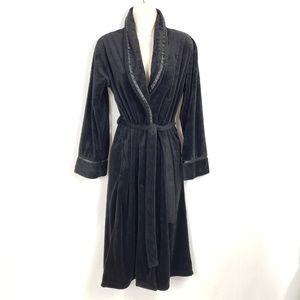Jaclyn Smith Velour Black Robe Women's Size Medium